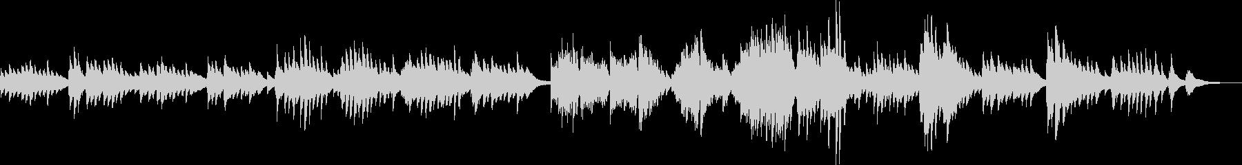 少し切ない和風なピアノBGM(生演奏)の未再生の波形