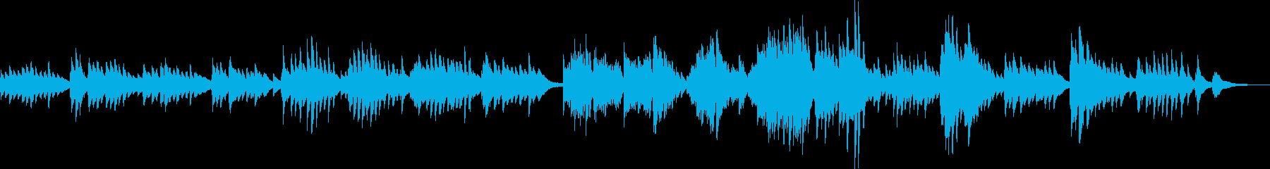 少し切ない和風なピアノBGM(生演奏)の再生済みの波形