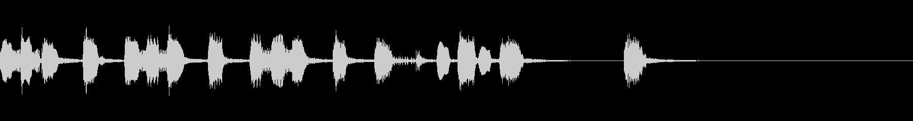 リコーダー・おもちゃ楽器コミカルジングルの未再生の波形