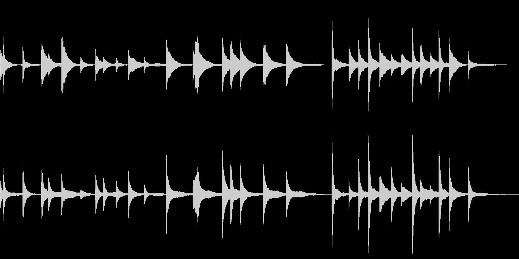 朗読・証言用のBGM②~ピアノソロ~の未再生の波形