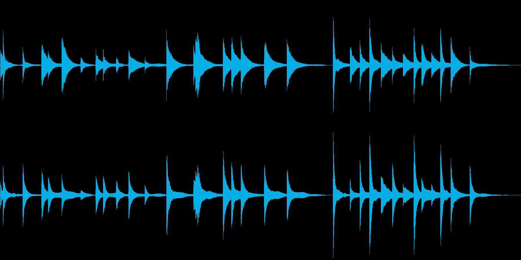 朗読・証言用のBGM②~ピアノソロ~の再生済みの波形