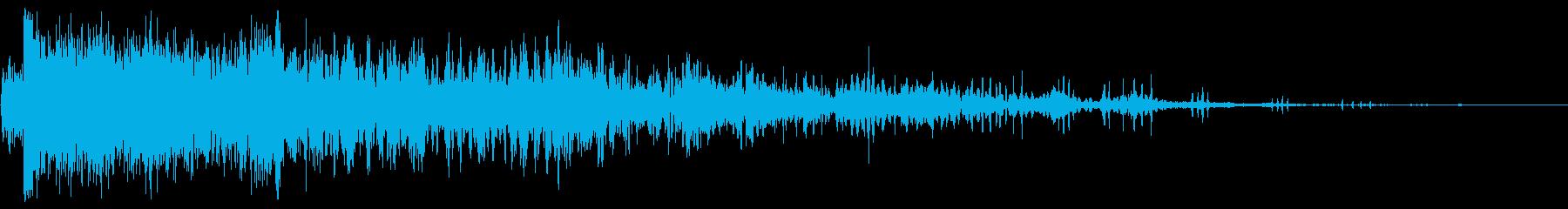 処理済みガンショットシンセエアバーストの再生済みの波形