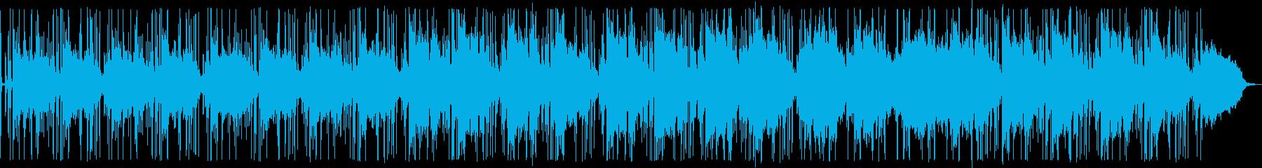 少しずつ手順を進める雰囲気の明るい曲の再生済みの波形