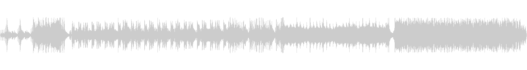 和風戦国ループロック音源の未再生の波形