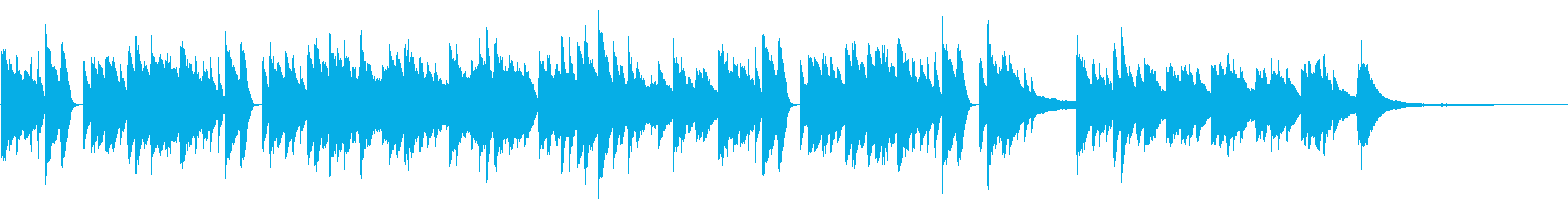 SNS広告 ピアノメイン 安らかの再生済みの波形