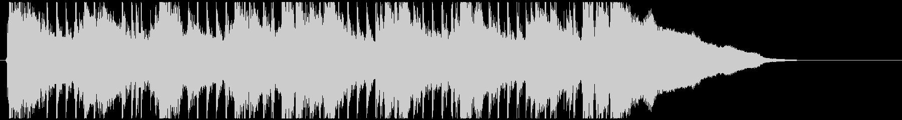 ピアノの疾走感が印象的なフレーズの未再生の波形