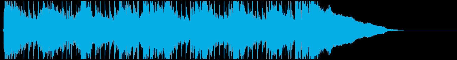 ピアノの疾走感が印象的なフレーズの再生済みの波形