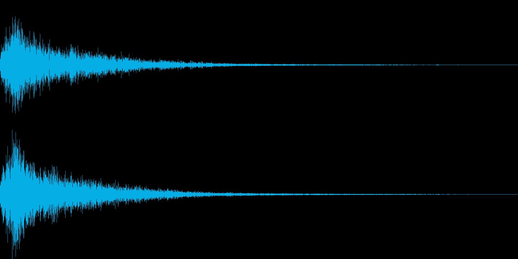 ジャン(オーケストラヒット高めクラシックの再生済みの波形