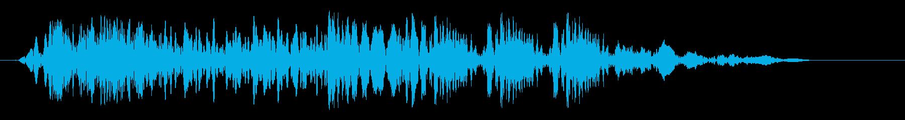 クイックフラタリングザップの再生済みの波形