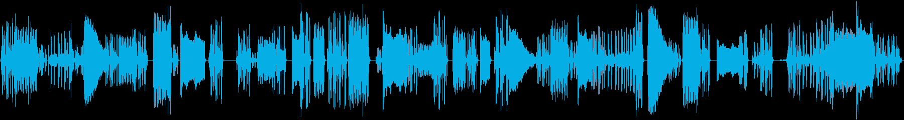 ヘビーラジオまたは電話チャネルサー...の再生済みの波形