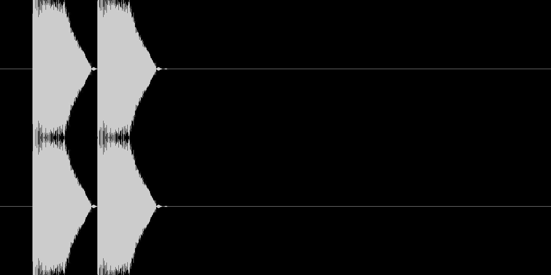 バシッバシッ(打撃音)の未再生の波形