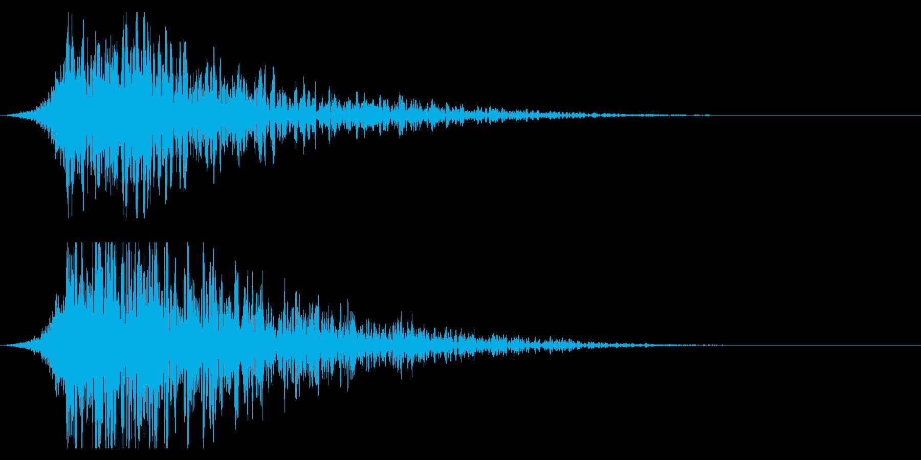 シュードーン-19-2(インパクト音)の再生済みの波形