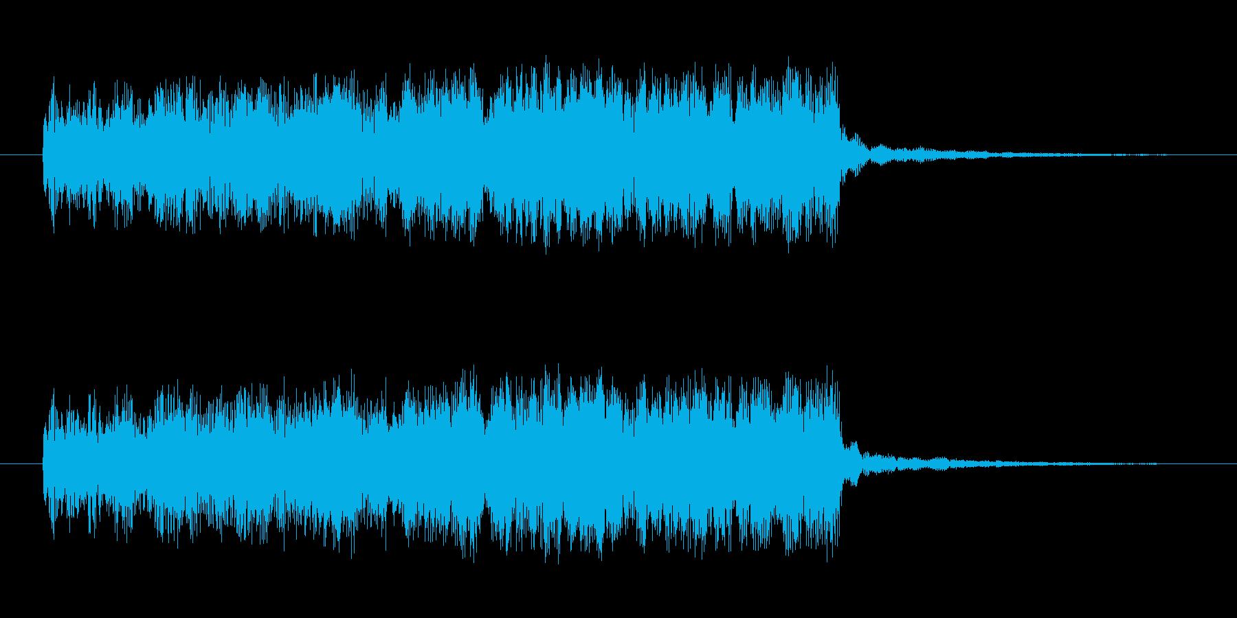 クリア 目標達成 レベルアップ 上昇音の再生済みの波形