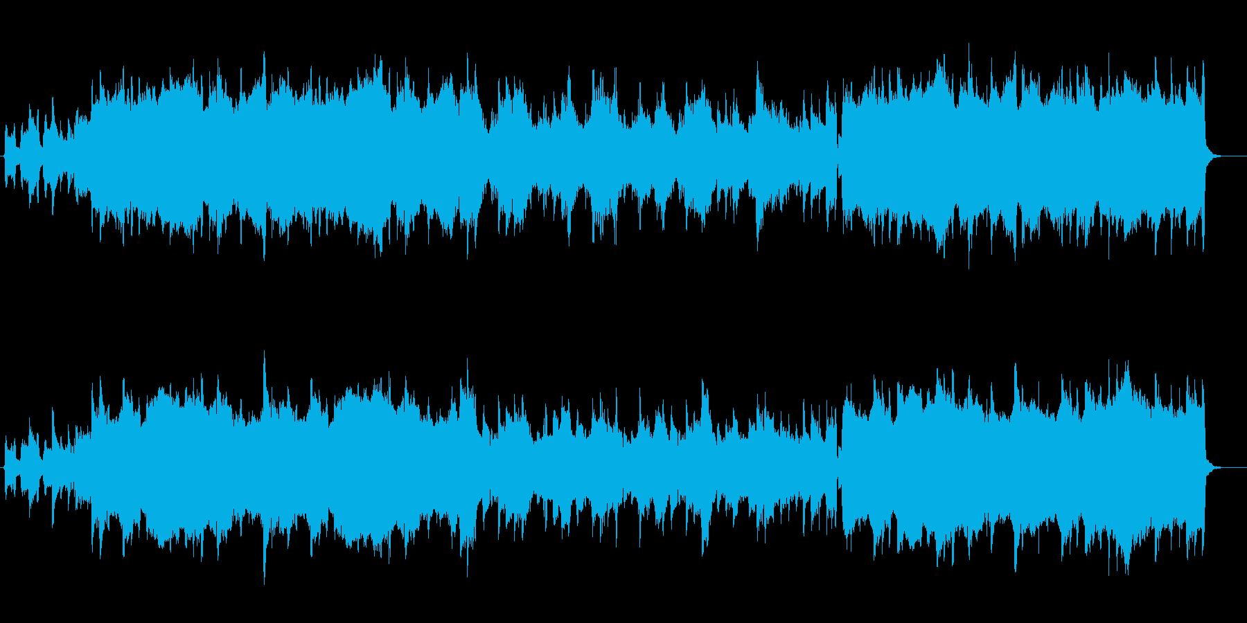 かわいくほのぼのアコーディオンですの再生済みの波形