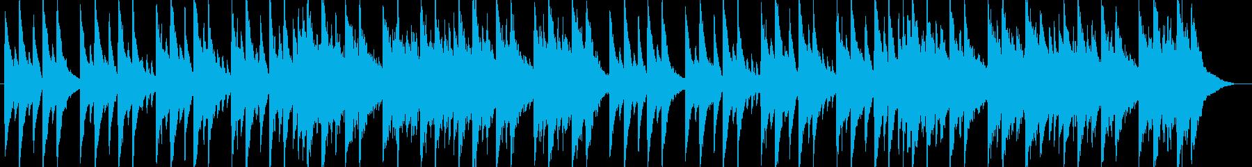 おやすみをイメージしたピアノBGMの再生済みの波形