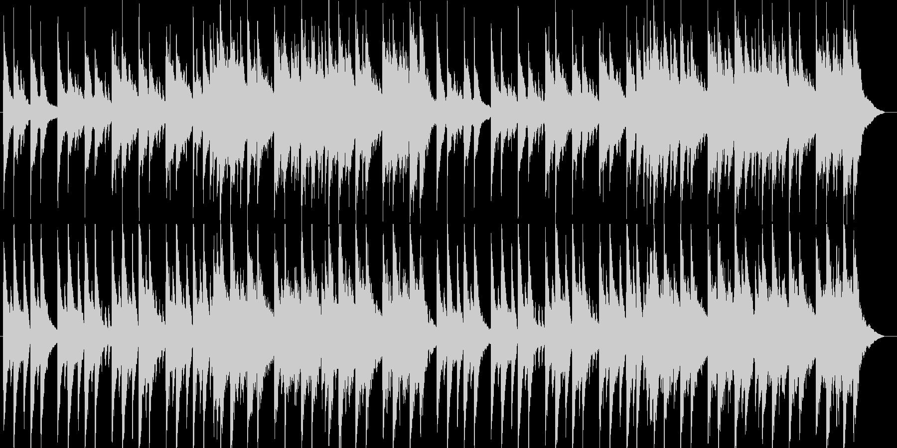おやすみをイメージしたピアノBGMの未再生の波形