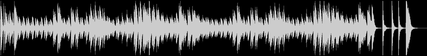 オヤジ臭い雰囲気のジャズ系ピアノソロ曲の未再生の波形