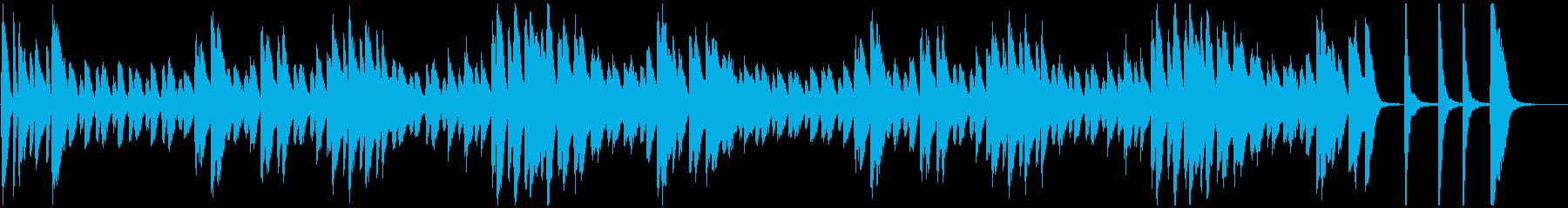 オヤジ臭い雰囲気のジャズ系ピアノソロ曲の再生済みの波形