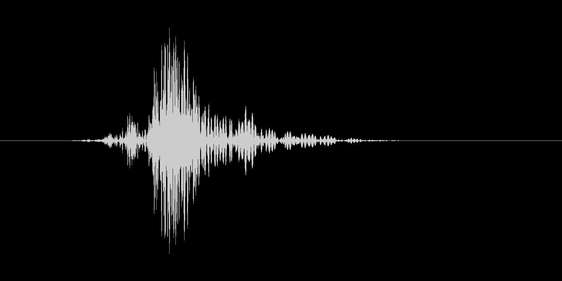 ドサッ(倒れる、気絶、戦闘不能)の未再生の波形
