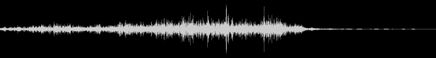 紙を破る音(スワイプ、カードドロー)の未再生の波形