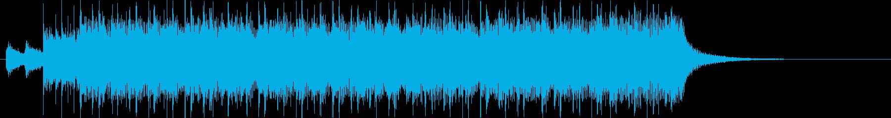 和風ロック、ジングル、勢い、サウンドロゴの再生済みの波形