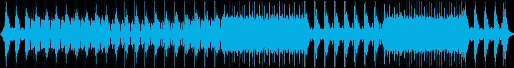 動画,CM等に迫力の重厚なロックの再生済みの波形