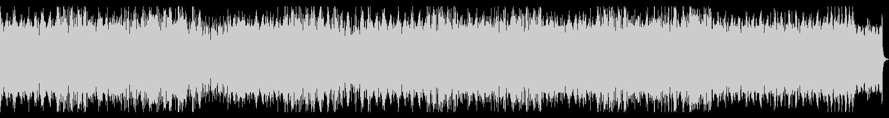 不思議でコミカルなピアノ楽曲の未再生の波形