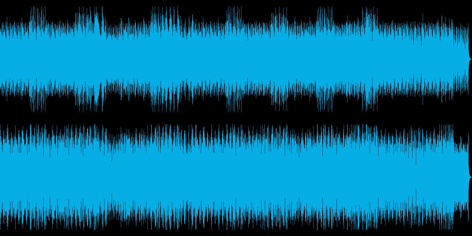 不思議でコミカルなピアノ楽曲の再生済みの波形