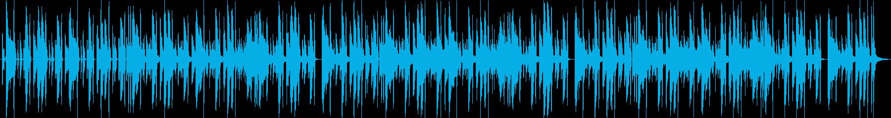 ベースラインが効いてるファンクの再生済みの波形