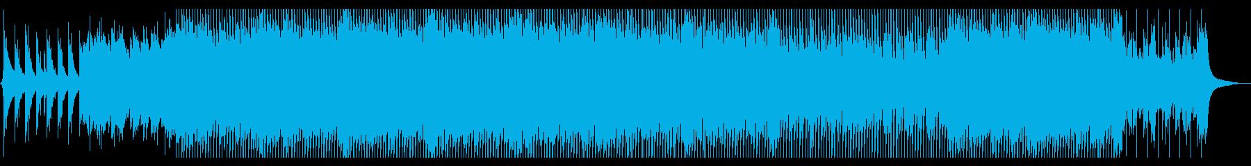 企業VP 温かいメロディーとピアノの再生済みの波形