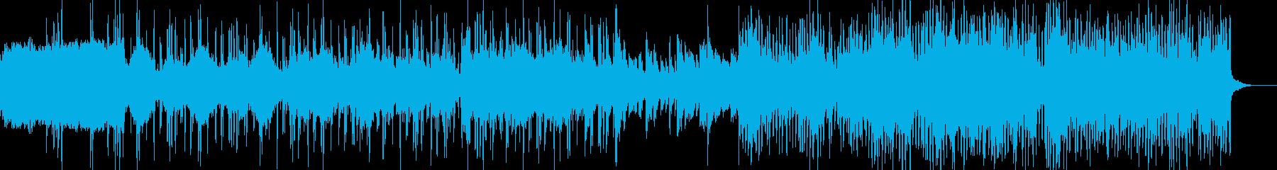 ダウンテンポ系BGMの再生済みの波形