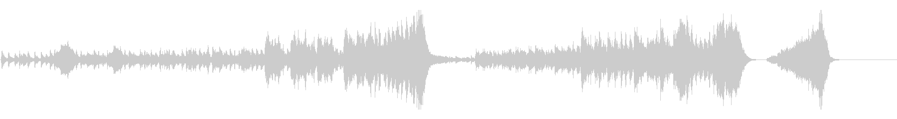 軽快なオーケストラのオープニング曲の未再生の波形