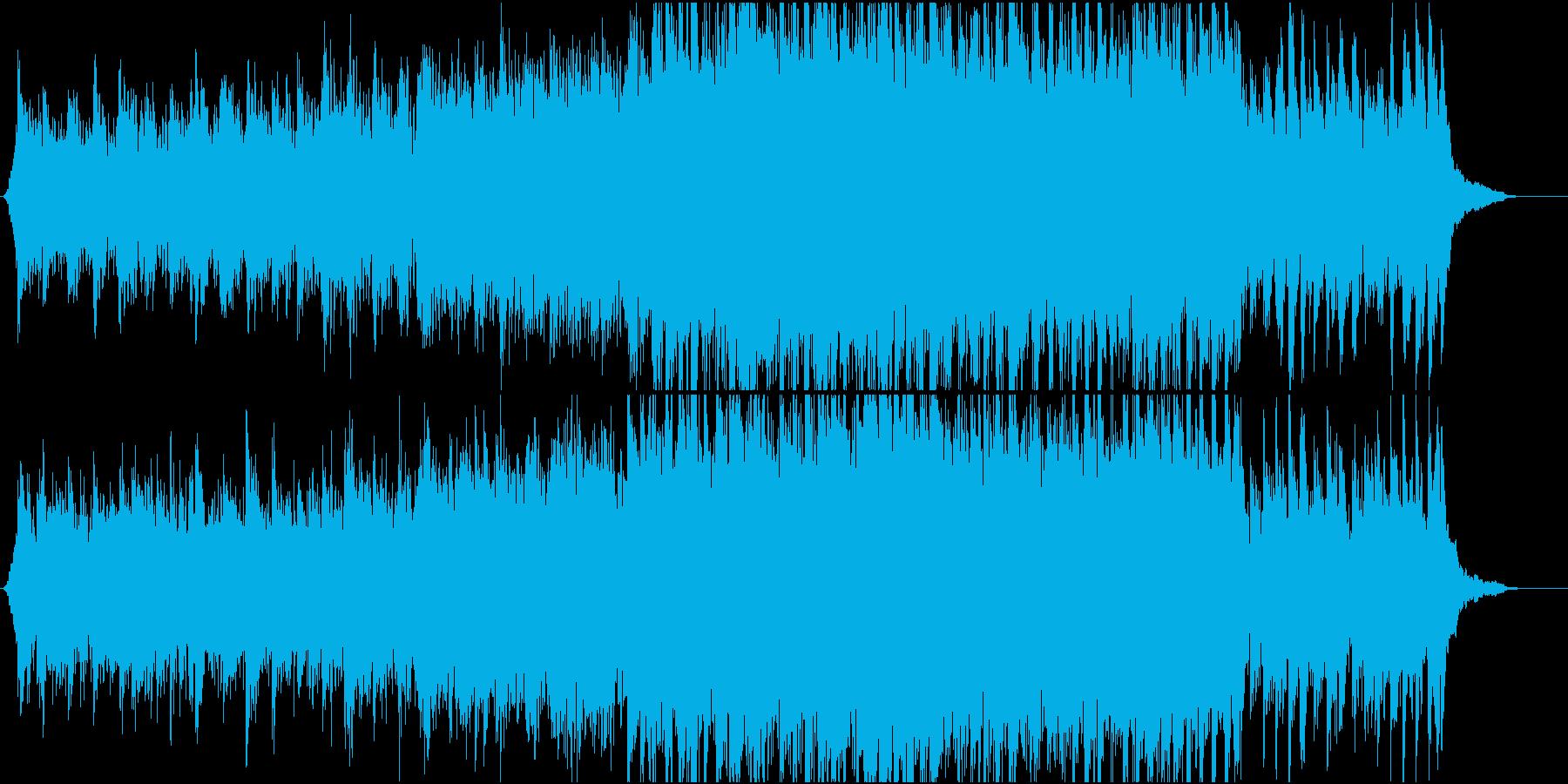 映像向け 爽やかなオーケストラの再生済みの波形