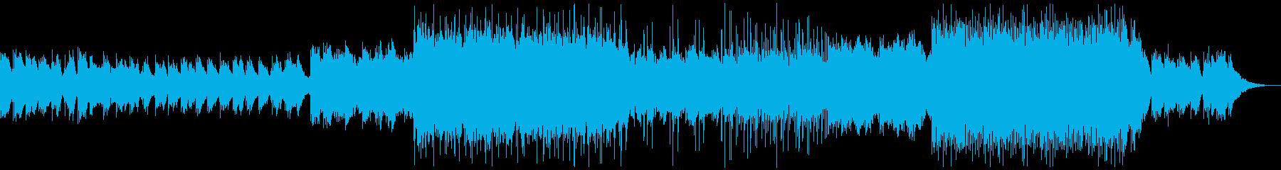 ドラマティックに展開するポップBGMの再生済みの波形