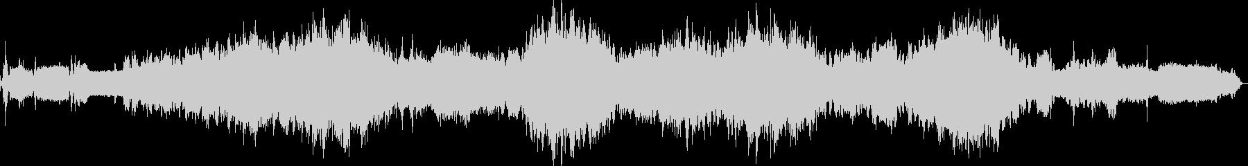 戦車の内部の音の未再生の波形