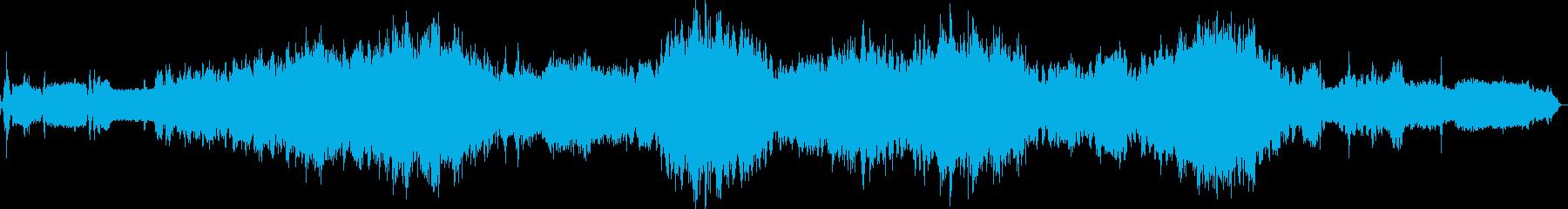 戦車の内部の音の再生済みの波形