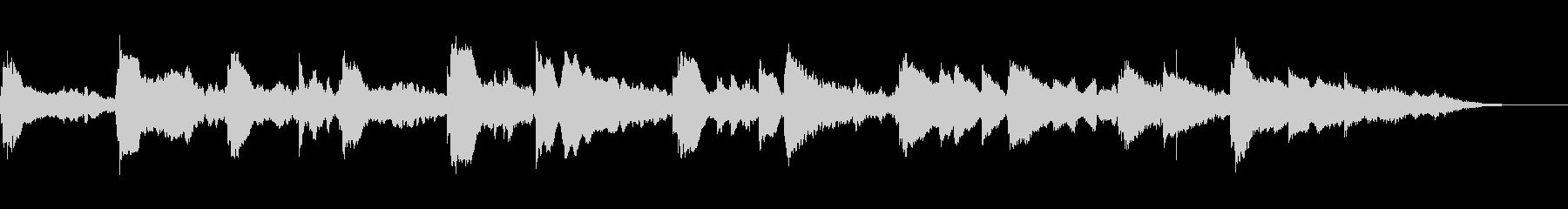 美しく透明感のあるピアノ曲の未再生の波形