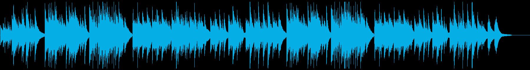 優しい躍動感のピアノ曲の再生済みの波形