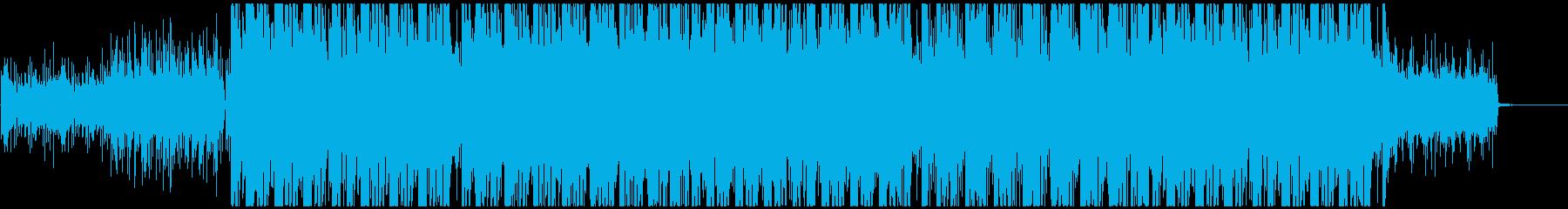 かっこいいデジタルビートの哀愁系楽曲の再生済みの波形