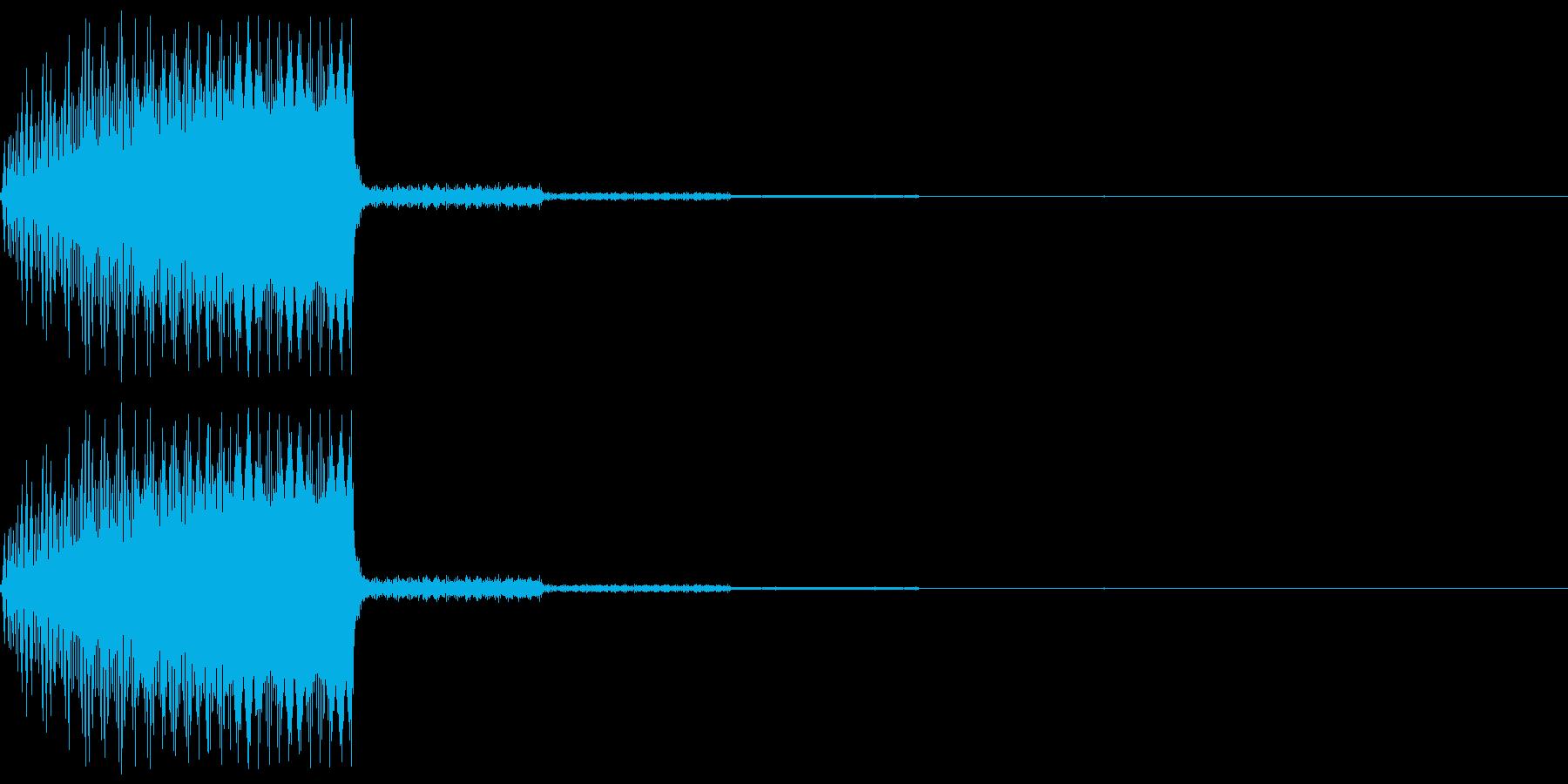 「決定」「選択」なのイメージのシステム…の再生済みの波形