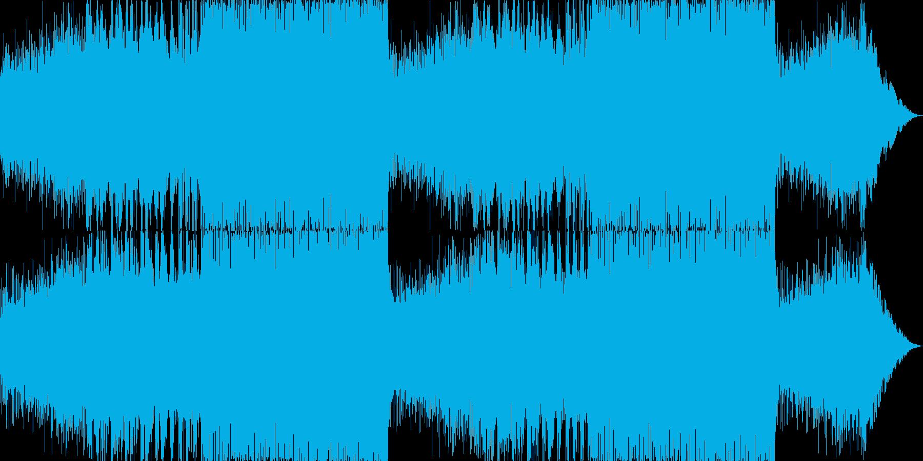 シリアスで重厚なピアノトランスの再生済みの波形