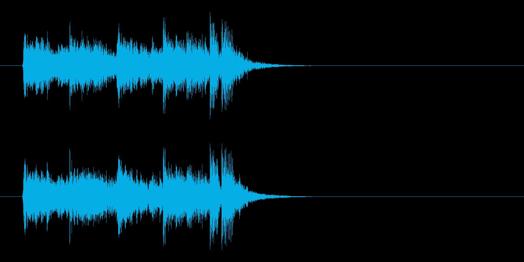 ジングル(大人っぽさ)の再生済みの波形