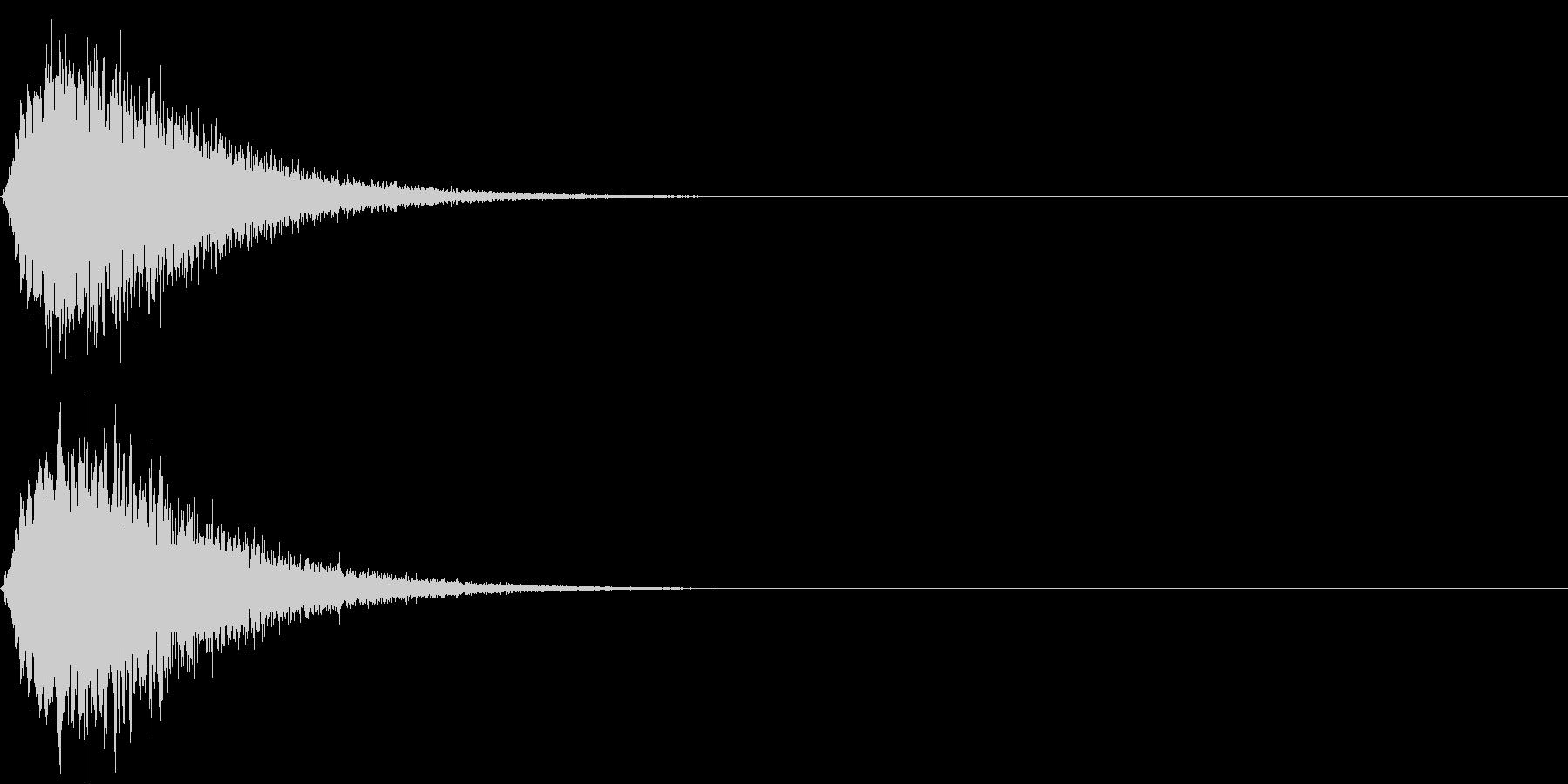 キュイン ボタン ピキーン キーン 7の未再生の波形