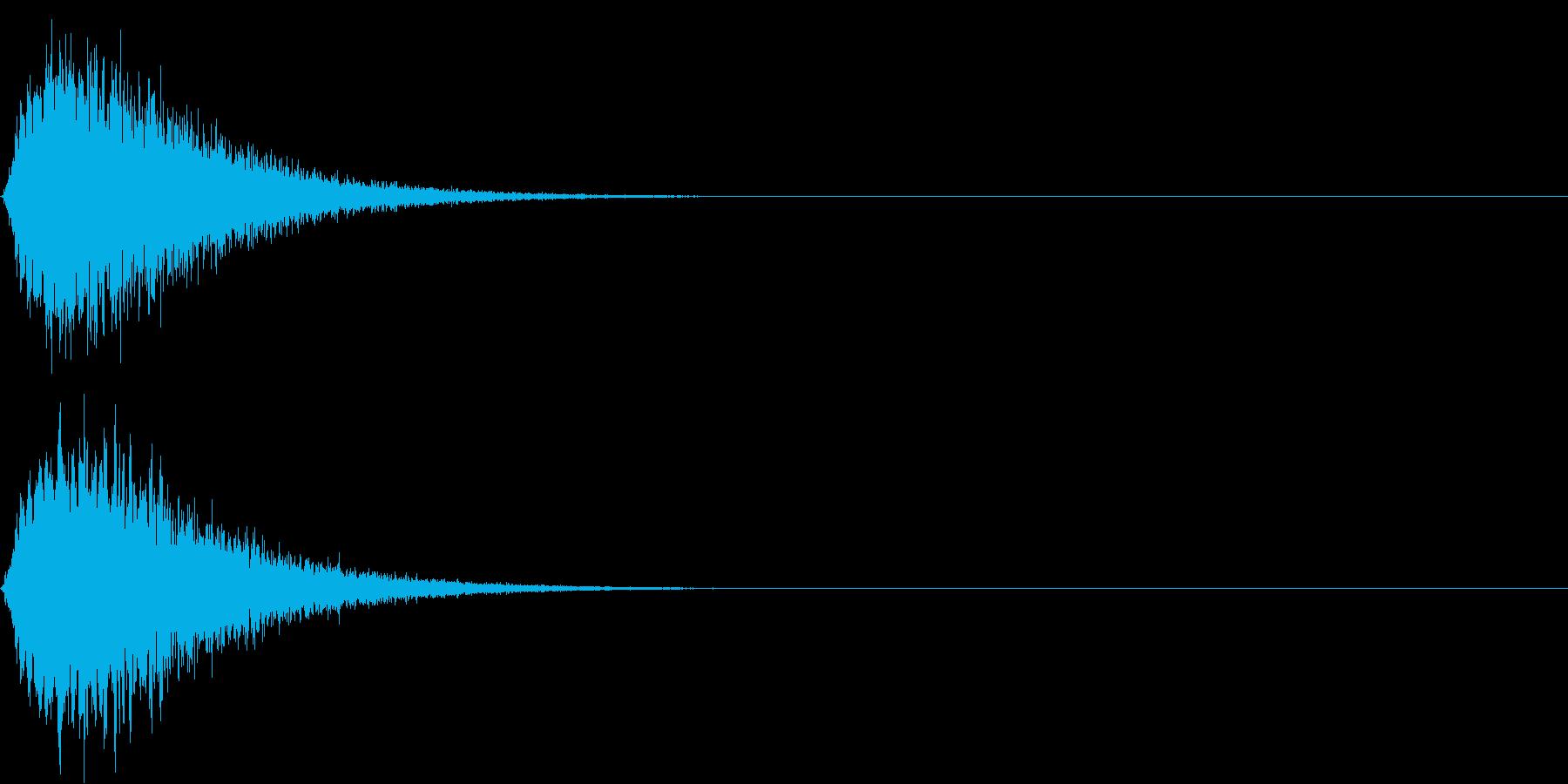 キュイン ボタン ピキーン キーン 7の再生済みの波形