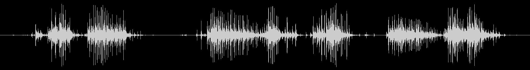 ガーニーホイールシェークとチャタリングの未再生の波形