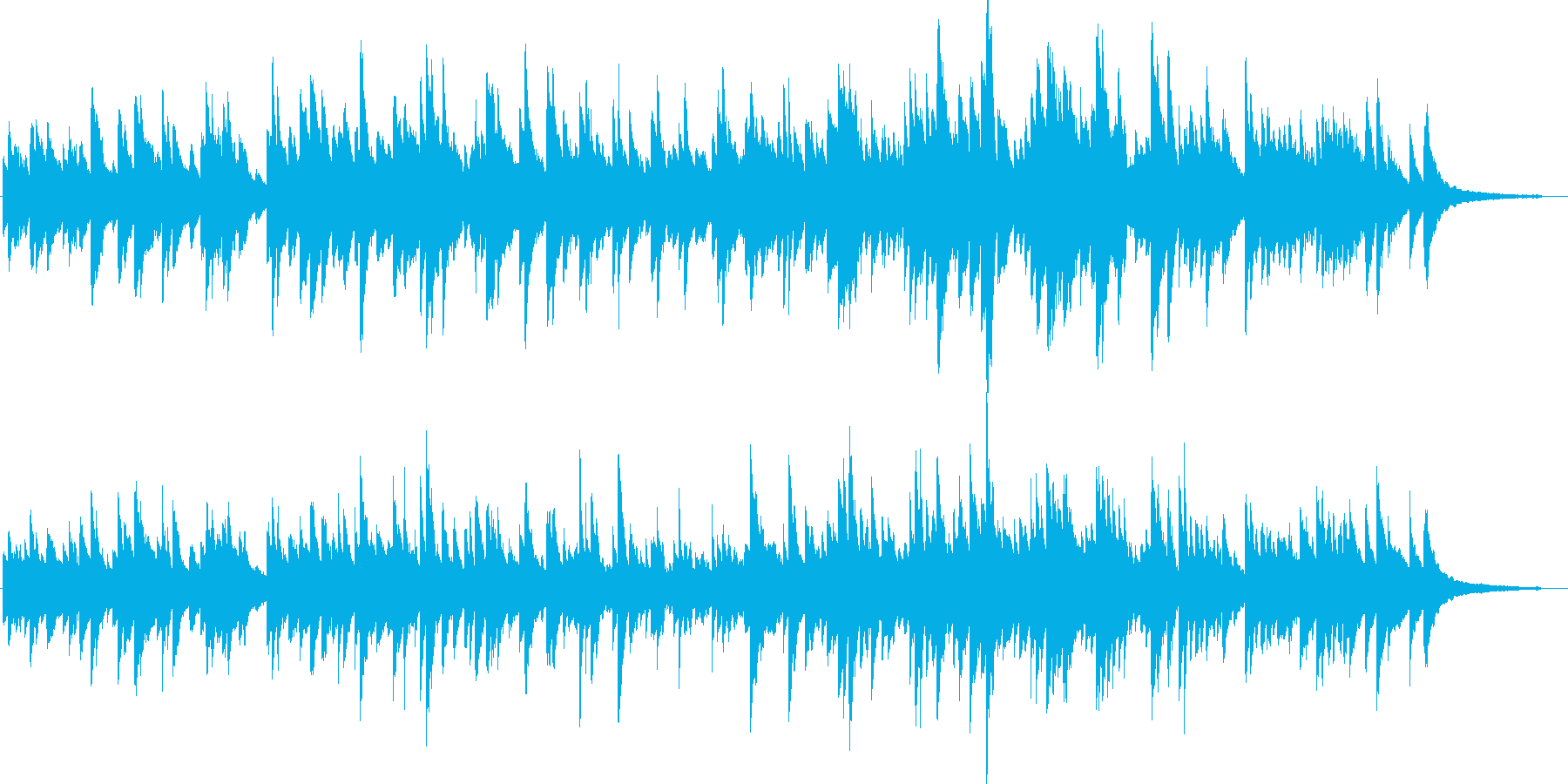 やさしいゆったりとしたピアノソロの再生済みの波形