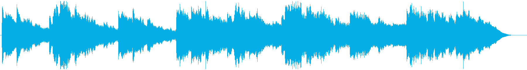 優しい雰囲気のBGMの再生済みの波形