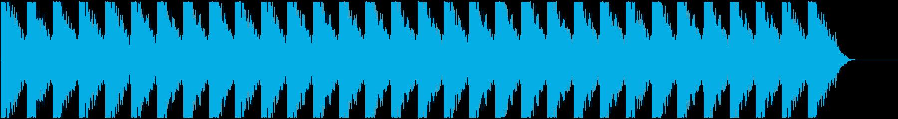 緊迫した状況の演出、警告音の再生済みの波形