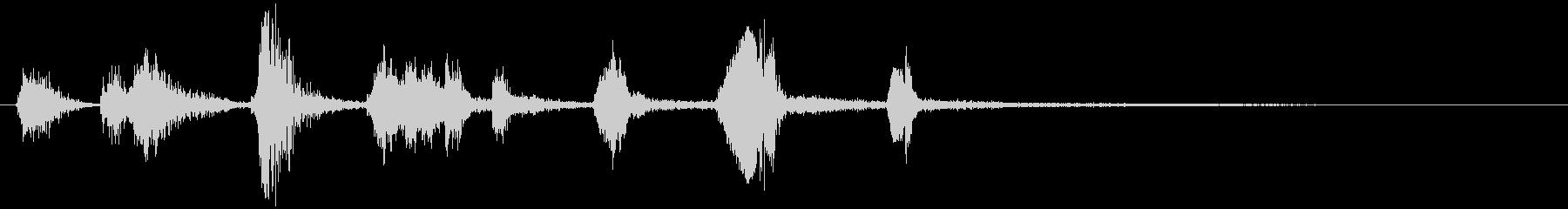 モンスターの鳴き声(水棲系2)の未再生の波形