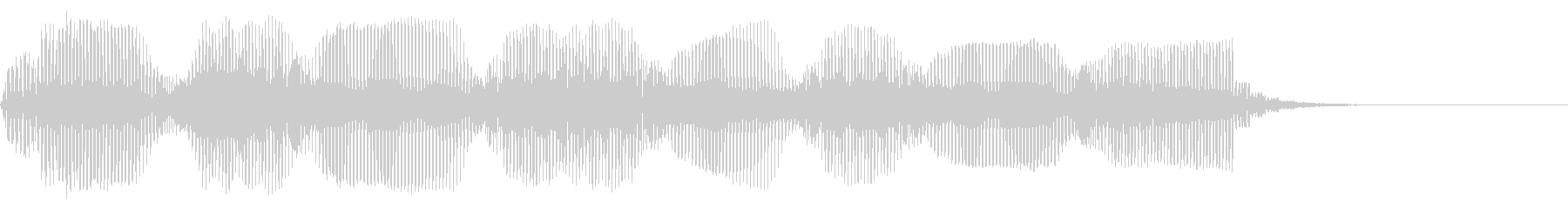 明るいトランペットトリルの未再生の波形